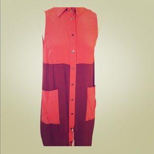 Derek Lam Colorblock Sleeveless Dress